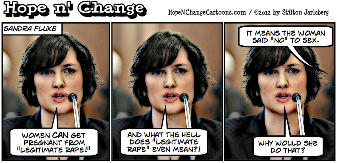 Sandra Fluke is dragged out of bed to become Obama's abortion spokesperson, hopenchange, hope n' change, hope and change, stilton jarlsberg, tea party, obama jokes