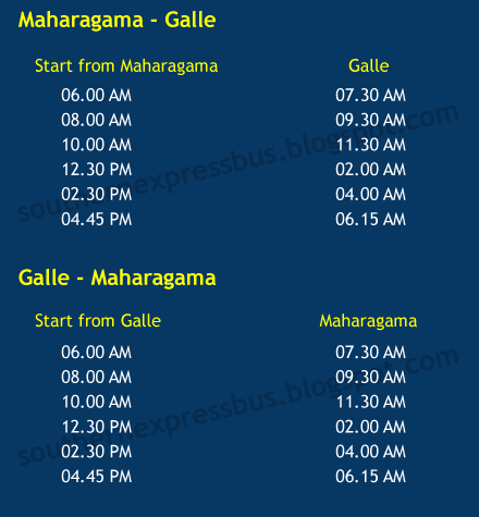 Southern Expressway Public Transport Timetable