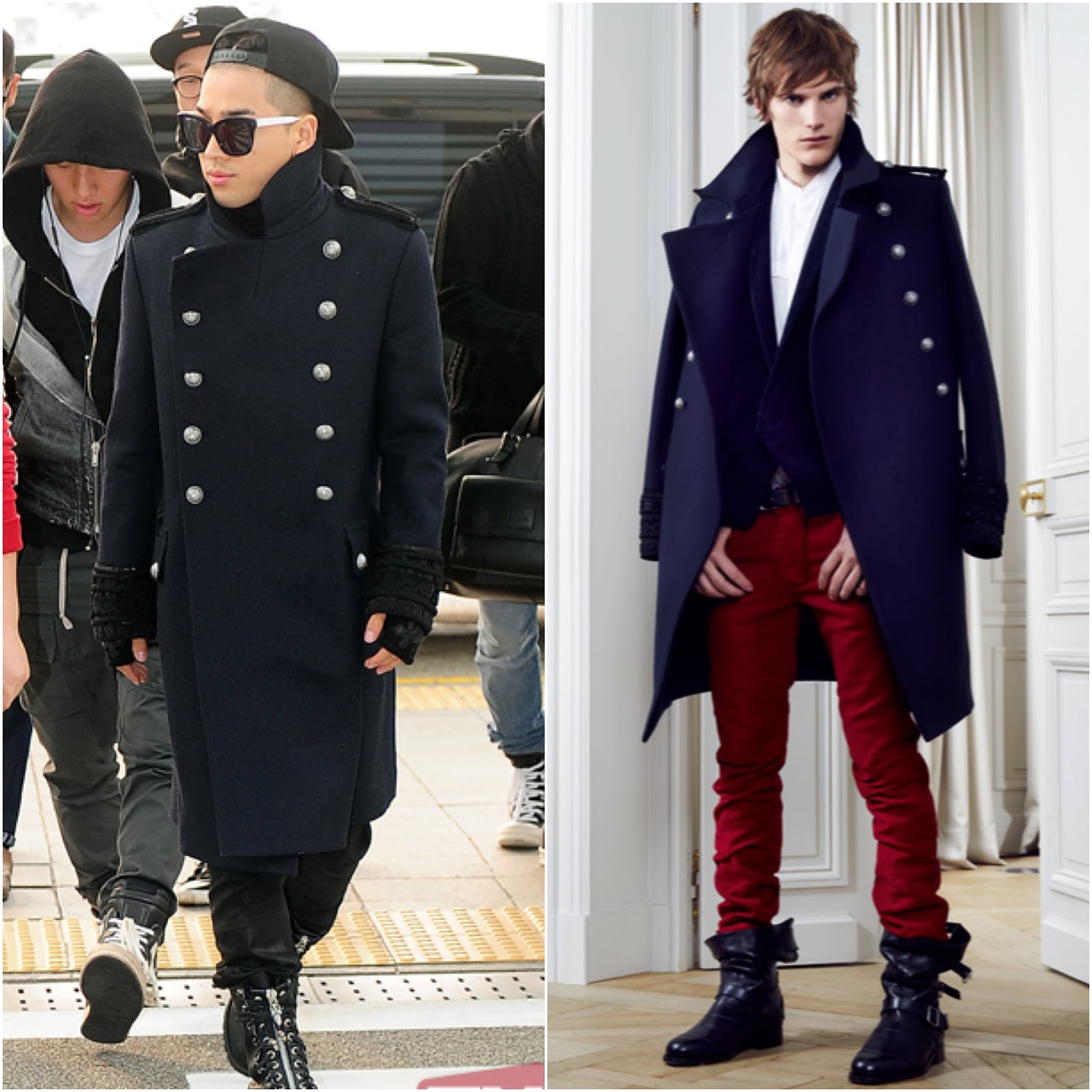 00o00 London Menswear Blog Celebrity Style TaeYang from BigBang in Balmain - Incheon Airport