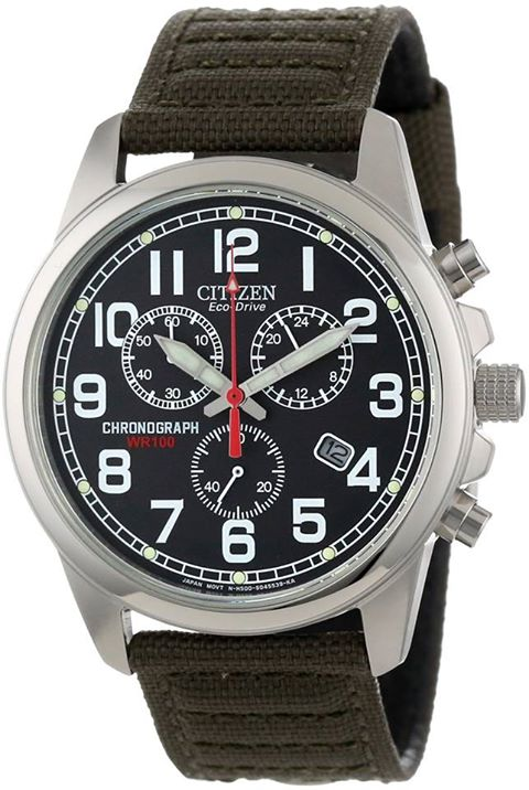 Top 5 Citizen Men's Watches For Summer 2013: Men's Citizen Canvas Watch