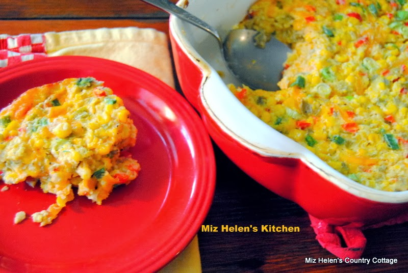 Corn and Green Chilies Casserole at Miz Helen's Country Cottage