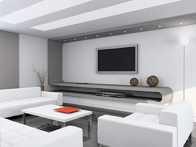 White Interior Living Room
