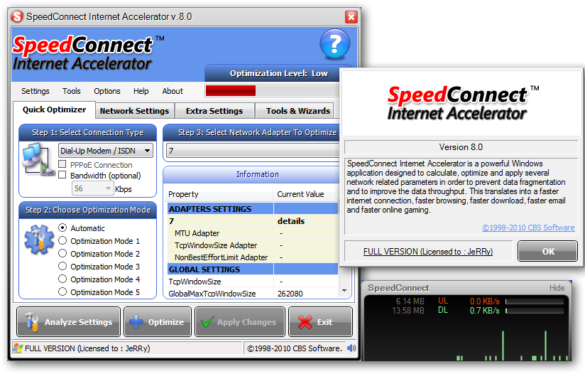 speedconnect internet accelerator v8.0 full download