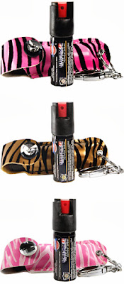 Pepper spray for the fashion conscientious woman, with 23% concentration, vs. others that just have 10%.