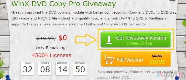 Download WinX DVD Copy Pro Giveaway 50K License Key Gratis