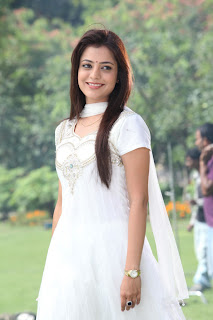 Nisha Agarwal Latest Pictures Gallery in White Sal Kameez 0001.jpg
