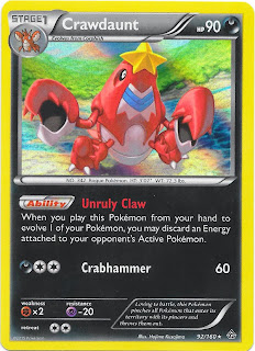 Crawdaunt Primal Clash Pokemon Card