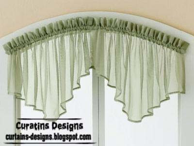 curved valance green style Best 20 valance designs and small curtains for windows   2