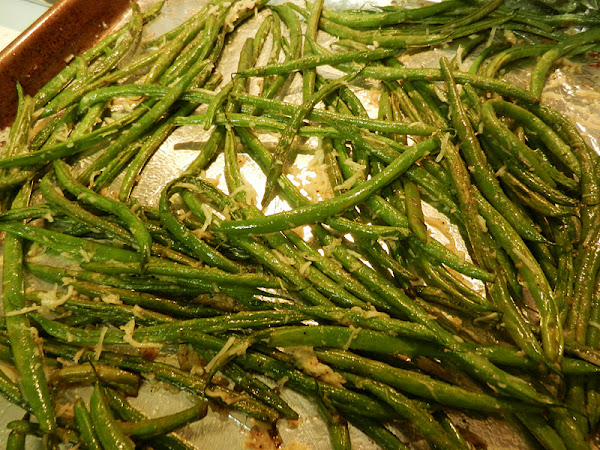 Diva In The Kitchen: Roasted Parmesan Green Beans