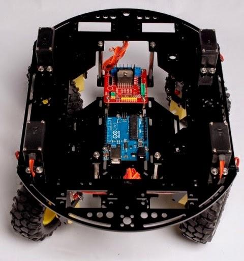 Andromina robot v wd y sus movimientos