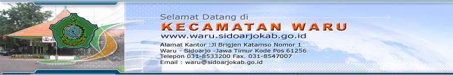 Pemerintah Kabupaten Sidoarjo Kecamatan Waru