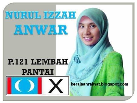 P121 parlimen lembah pantai Nurul Izzah Anwar
