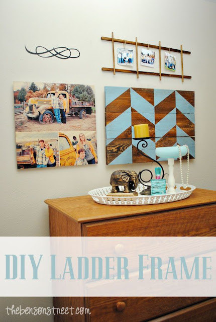 DIY Ladder Frame from The Benson Street