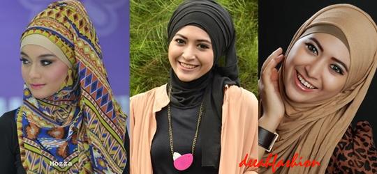 3 Model Jilbab Untuk Pipi Chubby