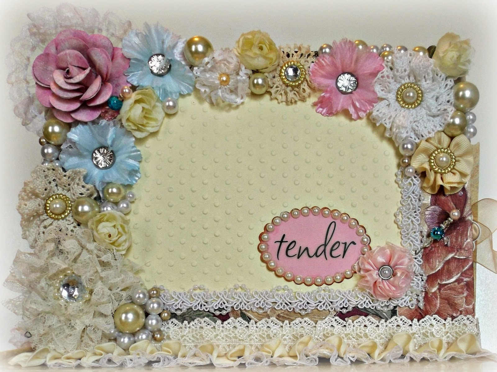 Flower and Pearl Tag Journal