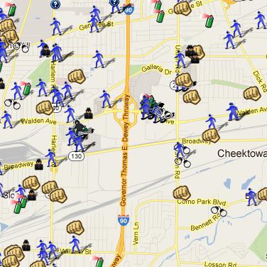 SpotCrime has multiple crime maps in the Buffalo NY area