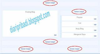 menambahkan widget di blog