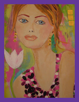 I Am Missing Summer.Original Woman Portrait . Oil , Acrylic , Mixed Media.