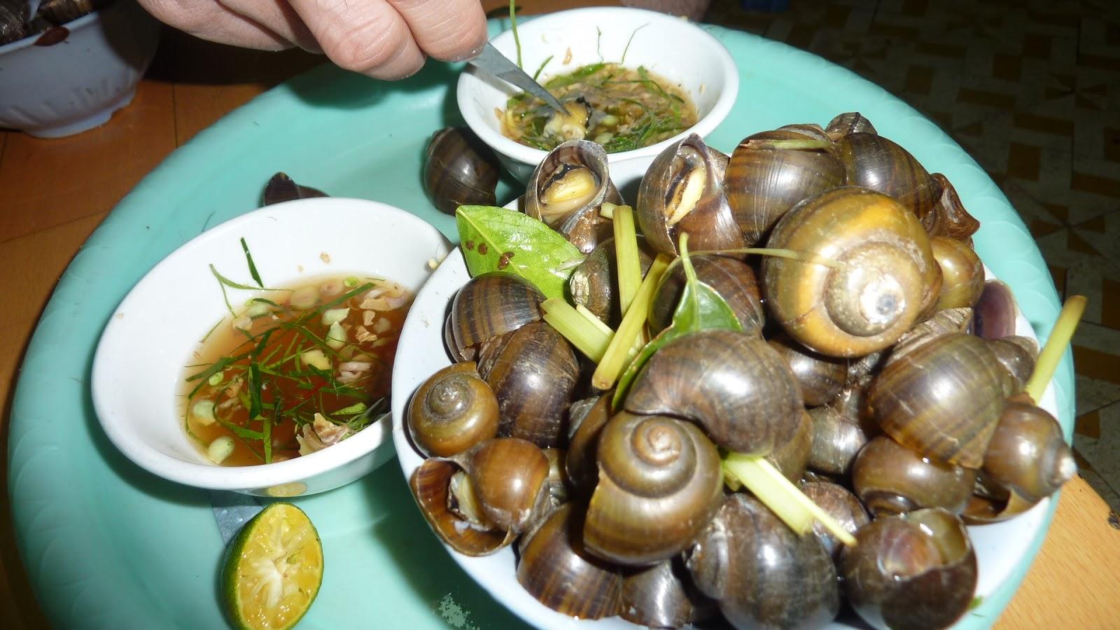 petunialee eating snails in hanoi