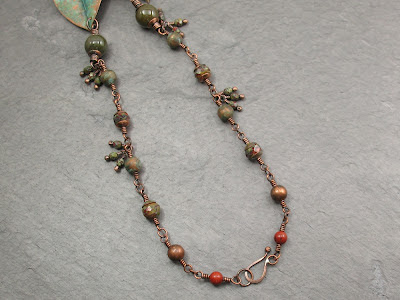 clasp & back of crossvine necklace