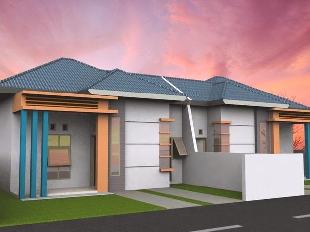 Contoh Desain Rumah Minimalis Type 21 Elegan Terbaru 2015_3