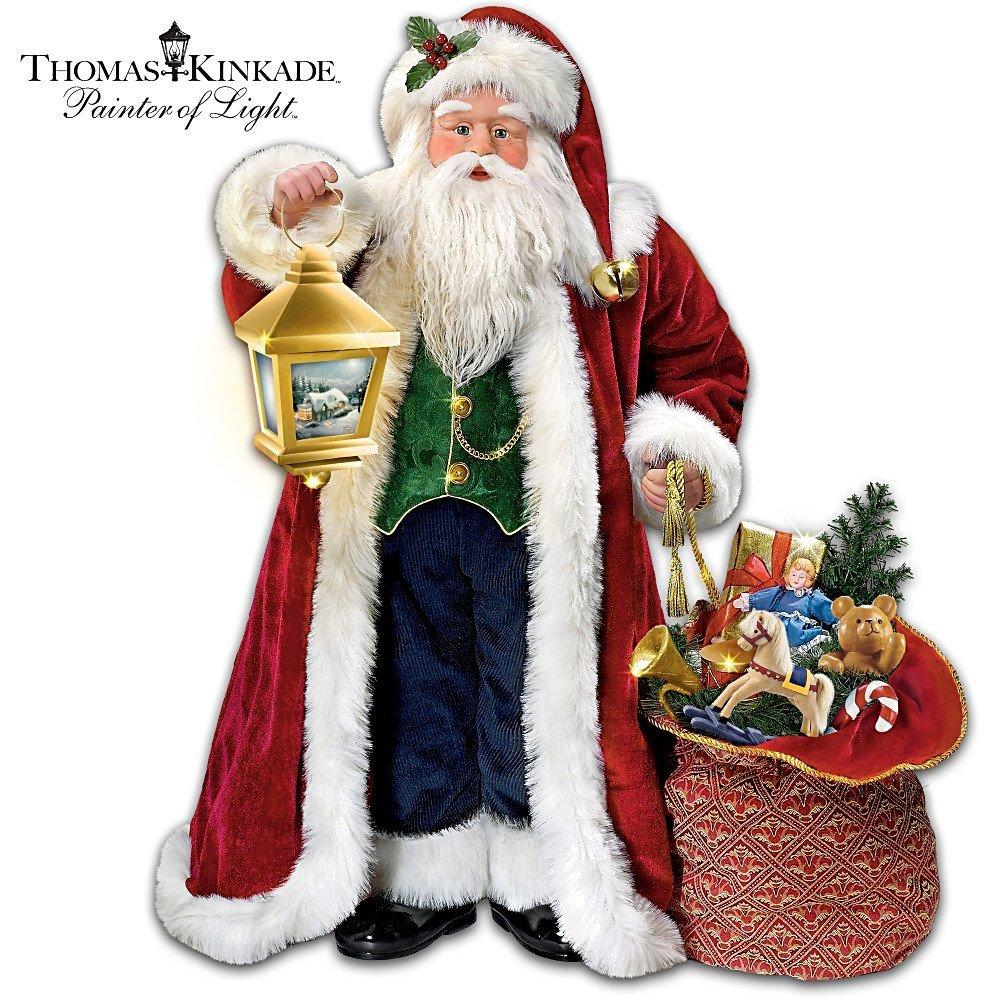 Thomas Kinkade Traditional Musical Santa Claus Christmas Doll, Image