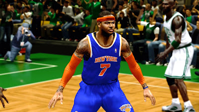 NBA 2K13 Carmelo Anthony 2K Patch Realistic Face