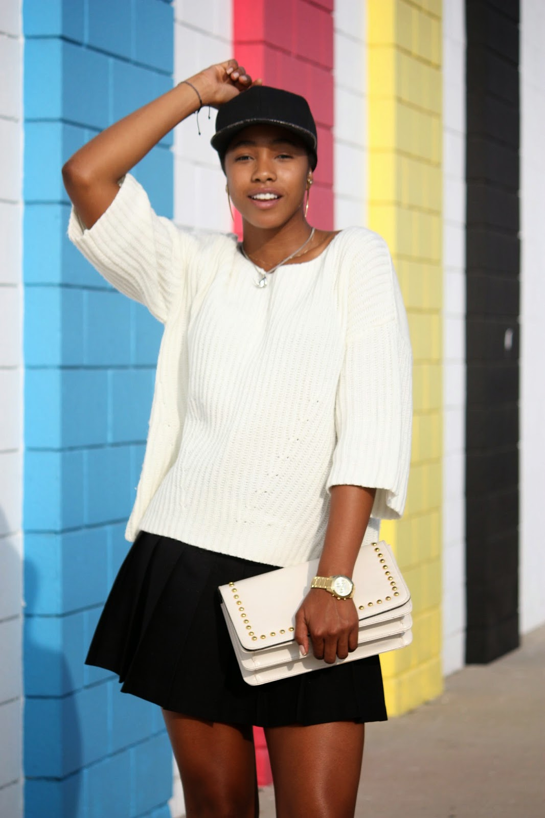 fashion style blogger Marquise C Brown Honey In My Heels - Primary Color Block