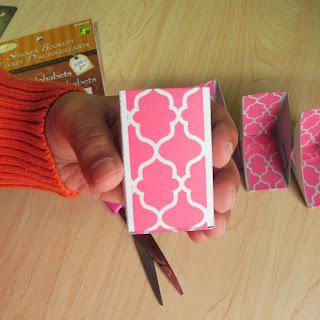 linmakingthings, photo frame, cardboard, DIY, toy, puzzle, trinket, upcycle, repurpose, washi tape