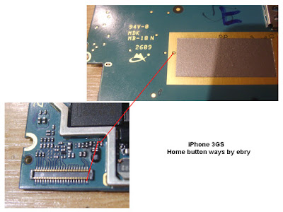 i Phone 3GS Home Button Not Working Problem Solution    Home Button Not working problem solution iphone 3gs. Check This Solution. You Can Solve your problem   Follow This Image. Check This Red Mark Line if you Get any short please Reconnect this line use copper coil. This is iphone 3gs home button problem solve picture help.