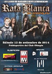 """RATA BLANCA EN EL """"POLIDEPORTIVO DEL CLUB OLIMPIA"""" (PARAGUAY) - 13/09/2014"""