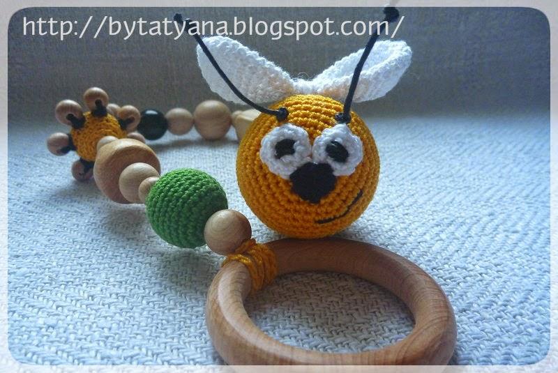 погремушка-грызунок погремушка пчелка