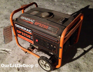 Generator safety when prepping
