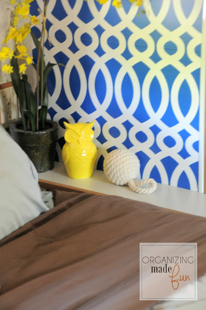 RV bedroom nightstand :: OrganizingMadeFun.com