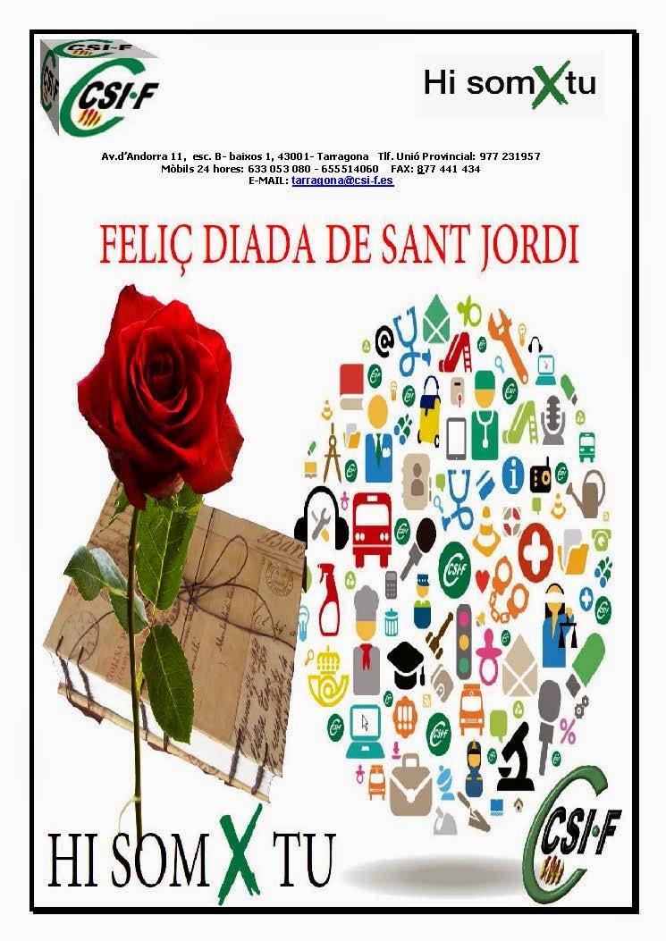 Csi f correos tarragona feli diada de sant jordi for Oficina de correos tarragona