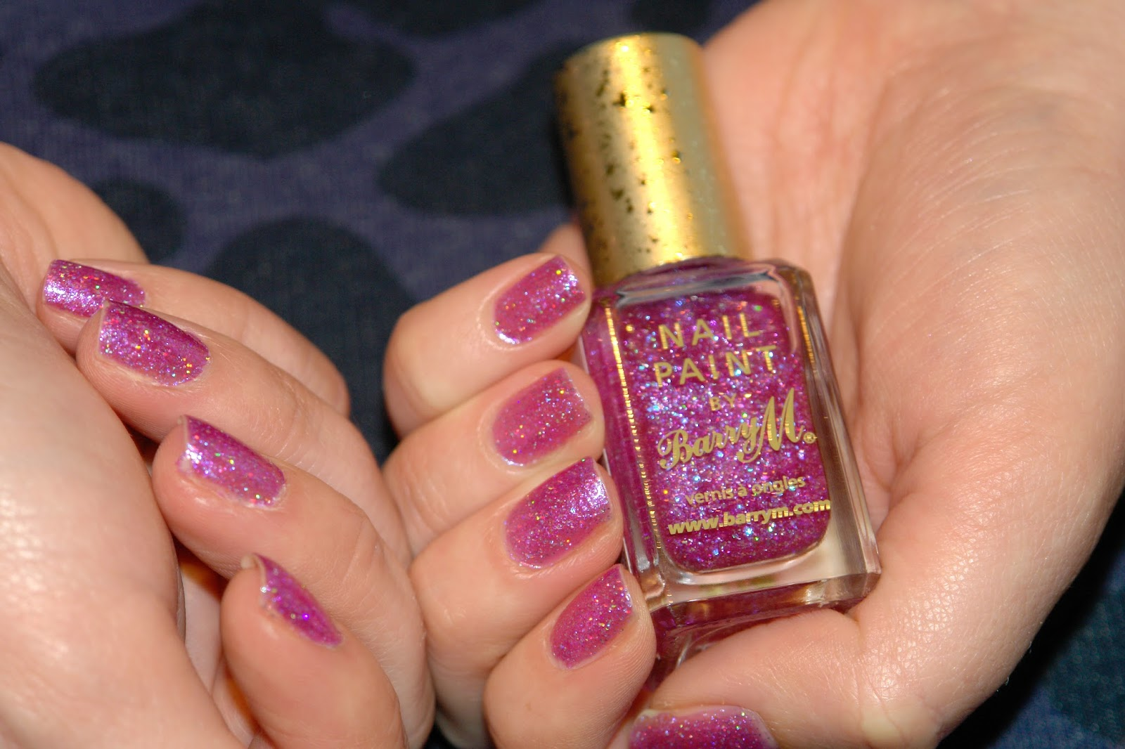 Barry M Socialite nail polish, Barry M, nail polish, nails, NOTD, pink, glitter, review, swatches