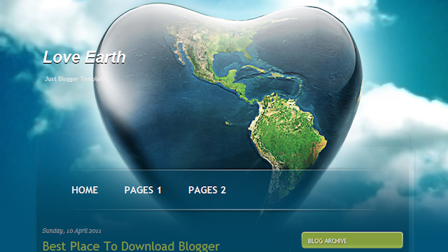 Earth Theme Blogger Template