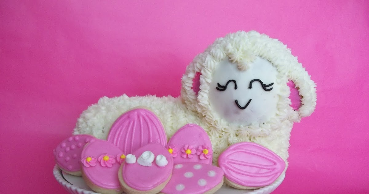 Cookie Couture: Easter Lamb Cake and Cookies
