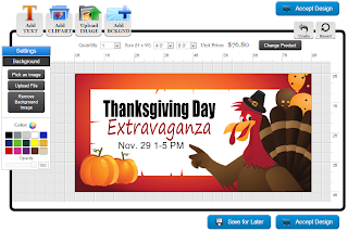 Thanksgiving Banner Template in the Online Designer