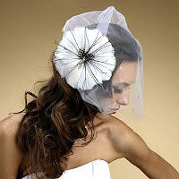 White feather hair fascinator