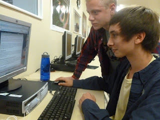Boys studying online curriculum at Cedar Ridge Academy Therapeutic Boarding School