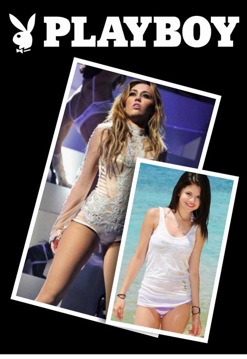 Playboy Quiere Desnudar A Miley Cyrus Y Selena Gomez