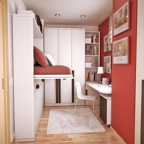 идея для маленькой комнаты для подростка кровать трансформер