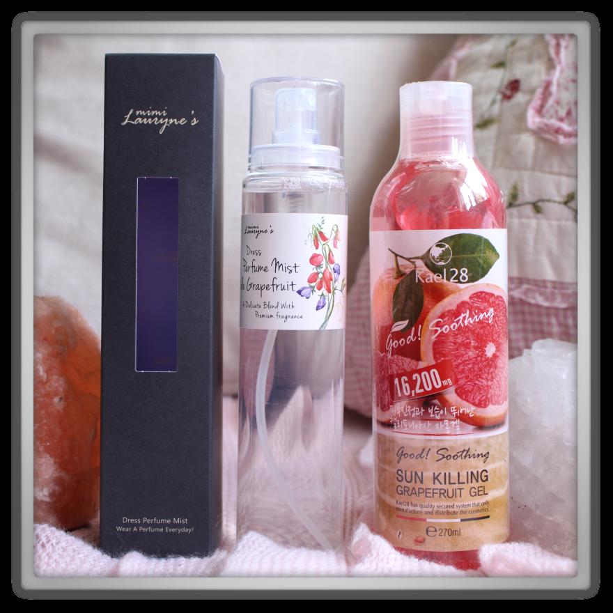 겟잇뷰티박스 by 미미박스 memebox beautybox scentbox 3 grapefruit unboxing review preview box evas mimi lauryne's dress perfume mist de kael28 sun killing gel