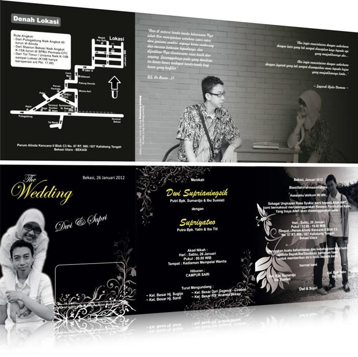 Contoh Undangan Pernikahan Klasik Designgrafis