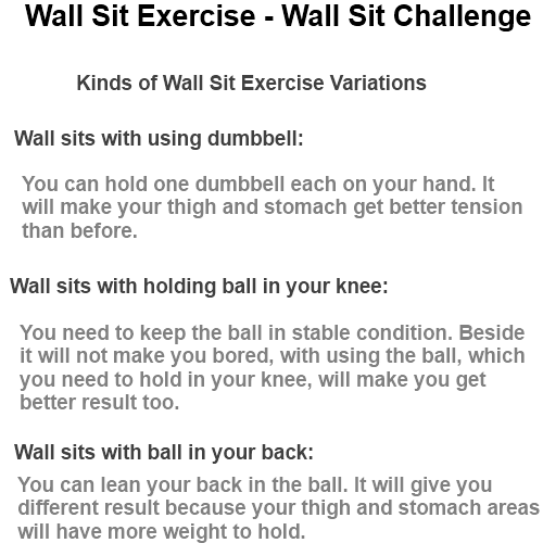 wall sit exercise wall sit challenge
