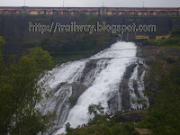 Umbrella falls of Bhandardara dam near Pune in India