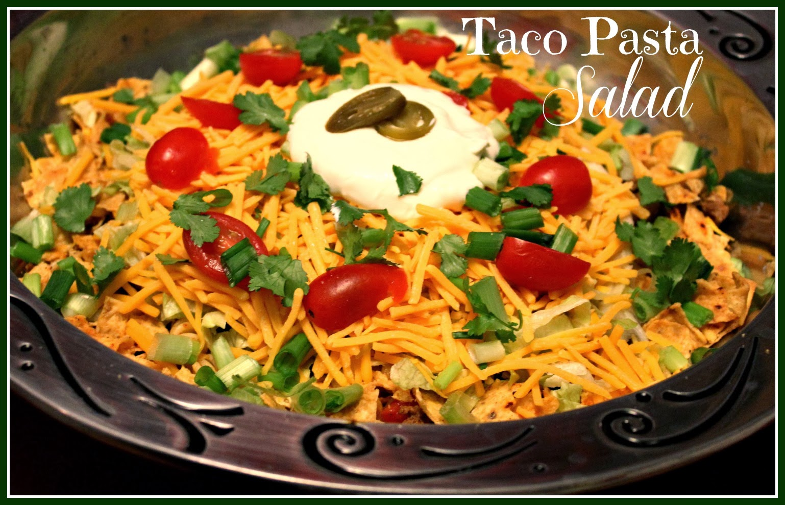 taco pasta salad combines a taco salad which i love and a pasta salad ...
