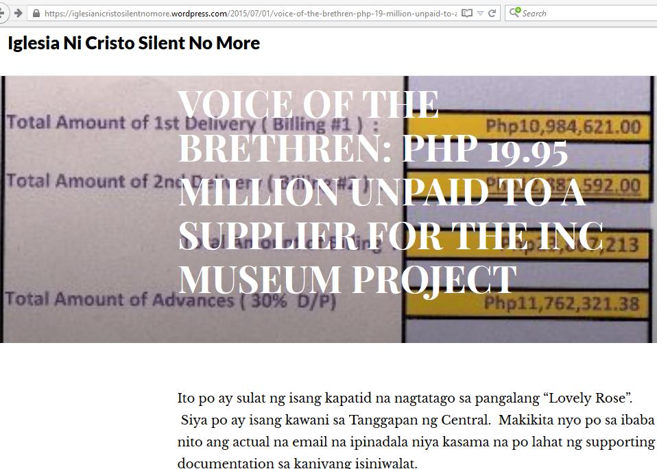In Defense of the Church: Kawani ng INC™ Central, sumulat kay G ...