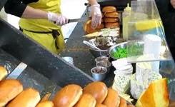 London Street Food. The Duck Meat Burger